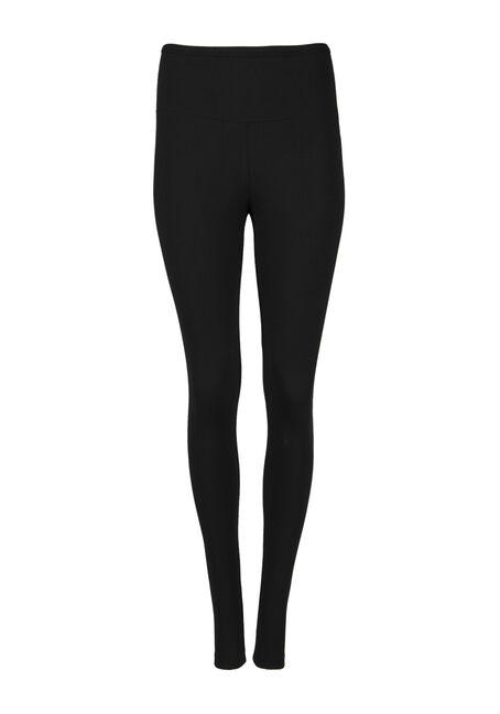 Ladies' High Waist Legging, BLACK, hi-res