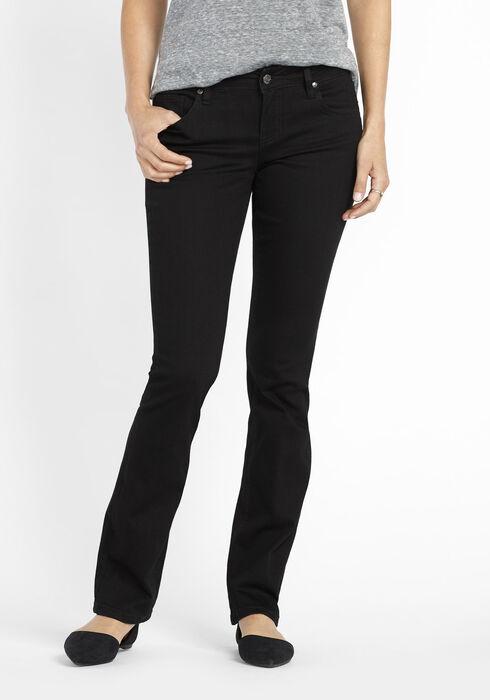 Ladies' Baby Boot Jeans, BLACK, hi-res