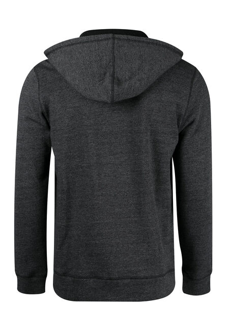 Men's Zip Front Hoodie, CHARCOAL, hi-res
