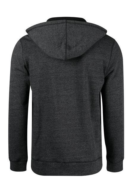 Men's Zip Front Hoodie, CHARCOAL, hi-res