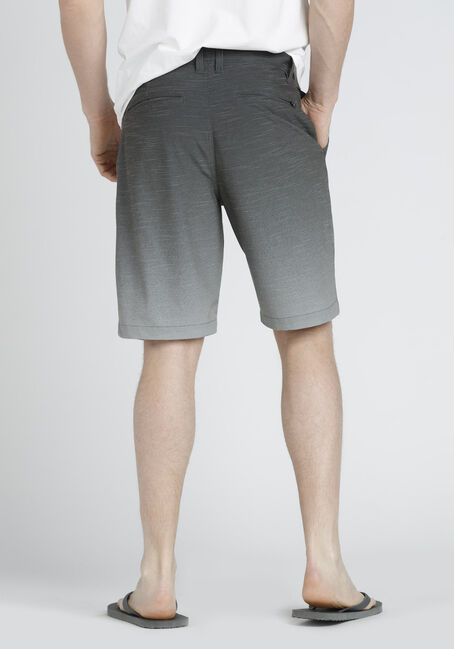 Men's Flat Front Hybrid Short, GREY, hi-res