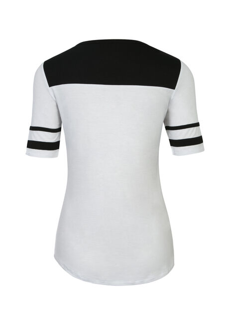 Ladies' Football Tee, WHITE/BLACK, hi-res
