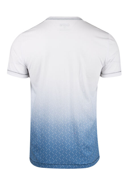 Men's Gradiant Print Tee, WHITE, hi-res