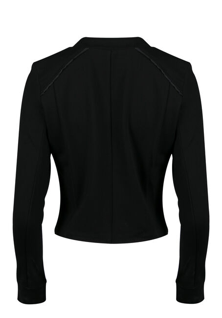 Ladies' Moto Jacket, BLACK, hi-res