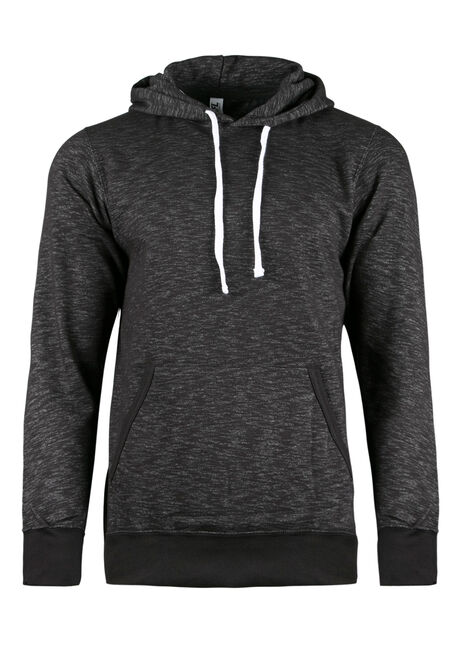 Men's Space Dye Hoodie, BLACK, hi-res