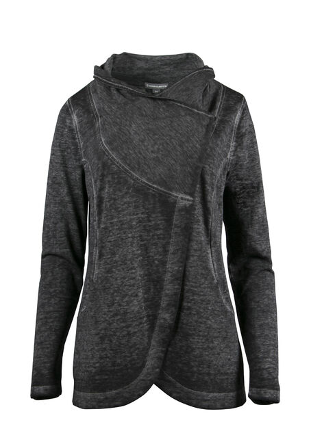Ladies' Burnout Fleece Wrap
