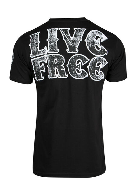 Men's Live Free Tee, BLACK, hi-res