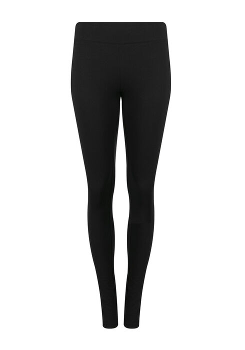 Ladies' Wide Waistband Legging, BLACK, hi-res