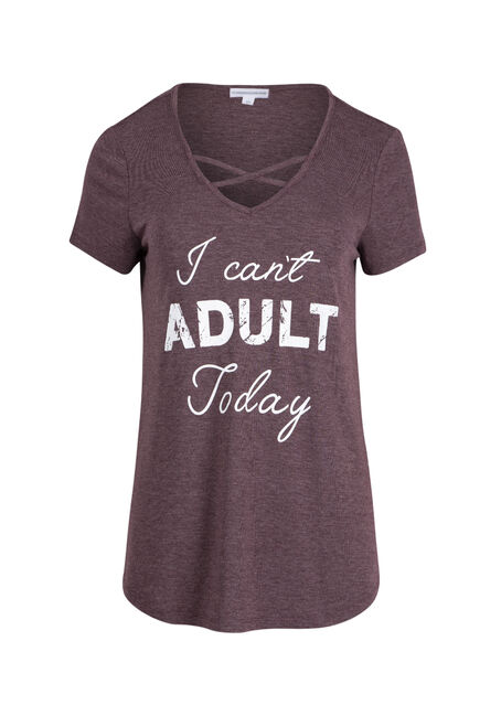 Ladies' I Can't Adult Today Tee