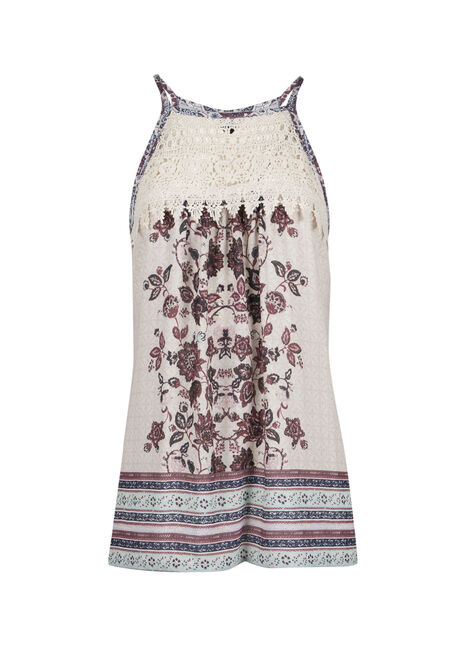 Ladies' Floral Crochet Tank