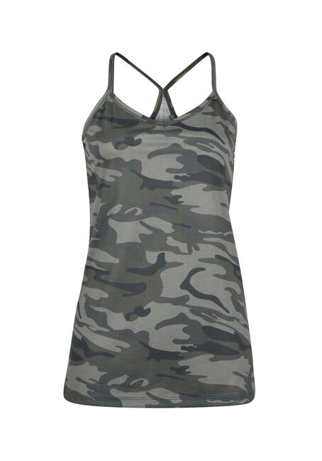 Ladies' Camo Tank, OLIVE, hi-res