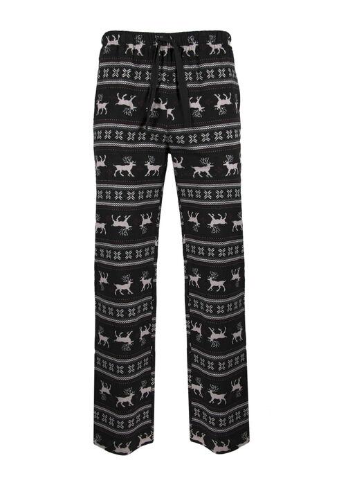 Men's Reindeer Flannel Lounge Pant, BLACK, hi-res
