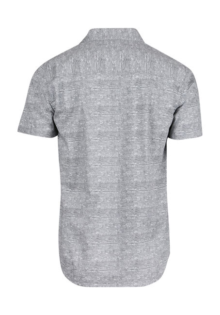 Men's Comfort Stretch Printed Shirt, WHITE, hi-res