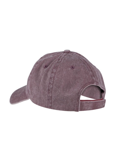 Ladies' Basic Baseball Hat, BURGUNDY, hi-res