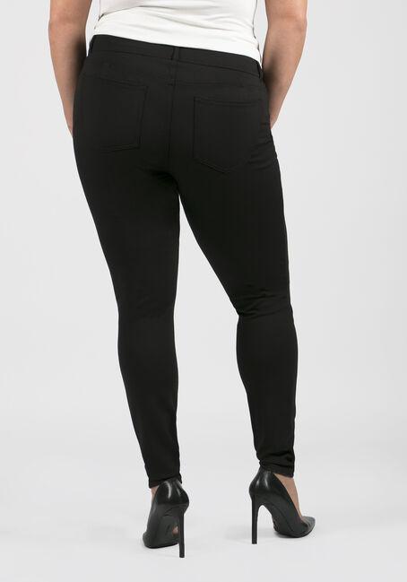 Ladies' Plus Size Skinny Pants, BLACK, hi-res