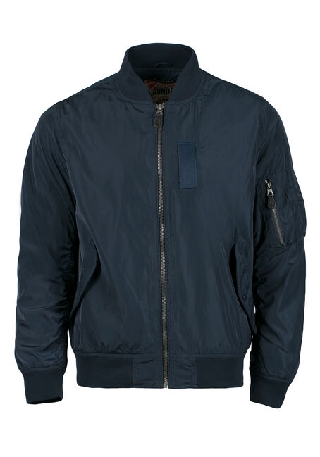 Men's Bomber Jacket, NAVY, hi-res