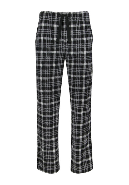 Men's Plaid Super Soft Lounge Pant, BLACK/GREY, hi-res
