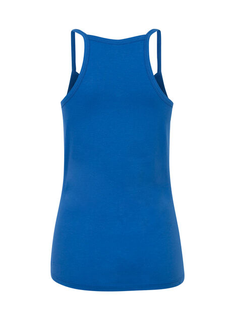 Ladies' Strappy Racerback Tank, COBALT, hi-res