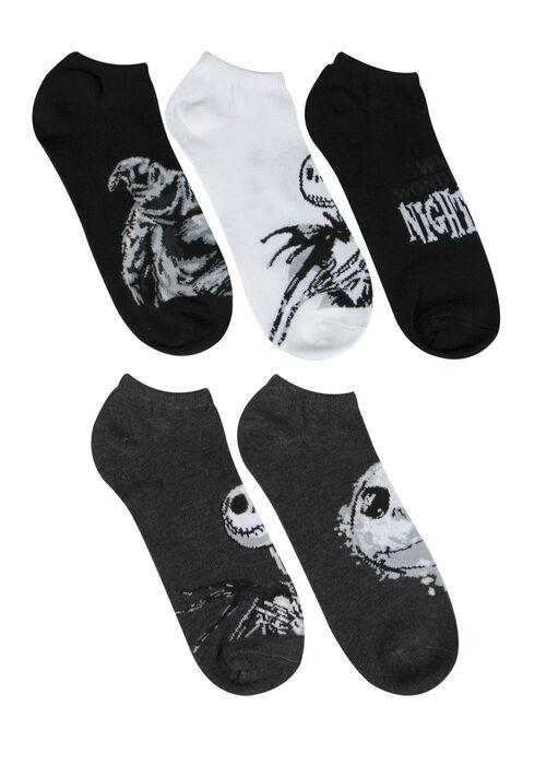 Men's 5 Pair Nightmare Socks, GREY, hi-res