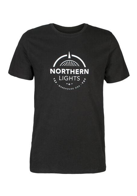 Men's Northern Lights Tee, BLACK, hi-res