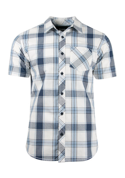 Men's Plaid Shirt, BLUE, hi-res