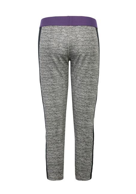 Ladies' Elastic Waistband Capri Legging, BLK/GREY, hi-res