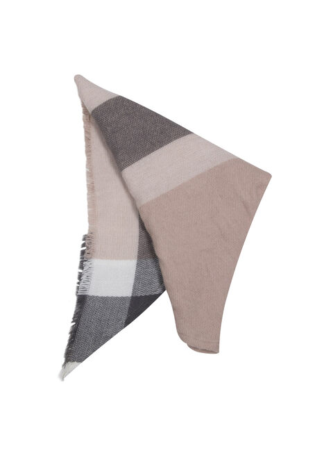 Ladies' Blanket Scarf, GREY, hi-res