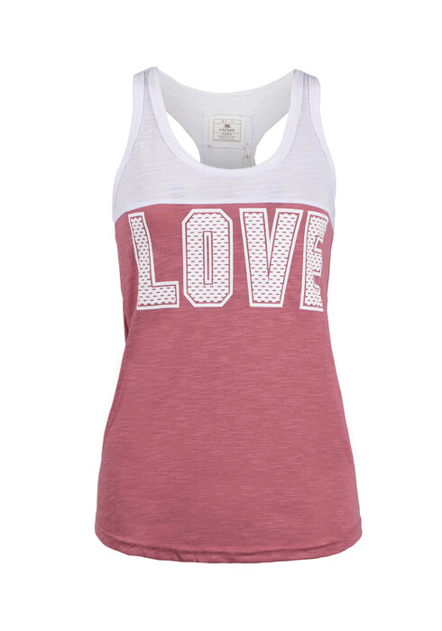 Ladies' Love Racerback Tank, BEGONIA PINK, hi-res