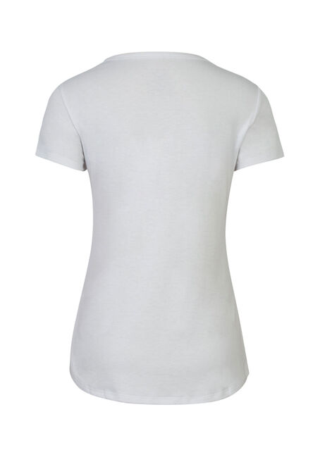 Ladies' Deep Scoop Neck Tee, WHITE, hi-res