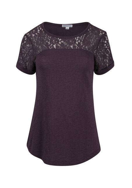 Ladies' Lace Yoke Tee