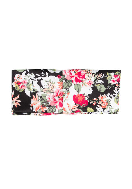Ladies' Floral Bandana Headband, WINTER WHITE, hi-res