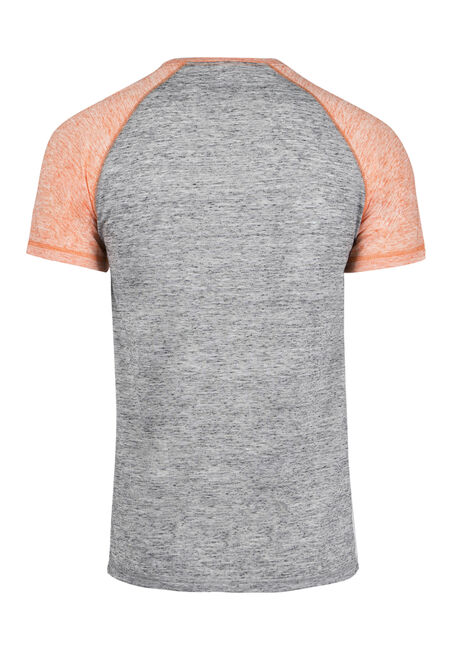 Men's Everyday Raglan Tee, BRIGHT ORANGE, hi-res