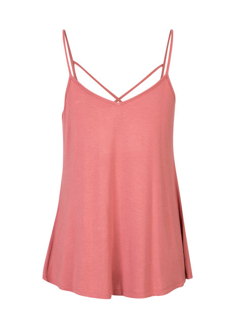 Ladies' Cage Front Strappy Tank, BLOSSOM, hi-res