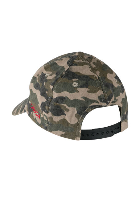Men's Camo Canada Baseball Hat, LIGHT OLIVE, hi-res