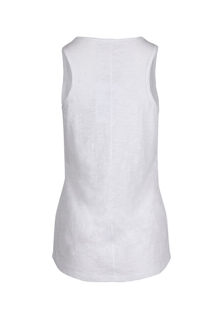 Ladies' Raw Edge Tank, WHITE, hi-res