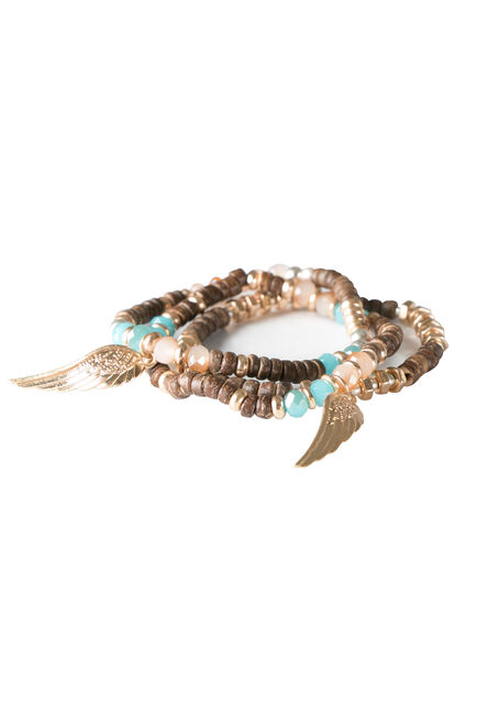 Ladies' Trio Stretch Bead Bracelets