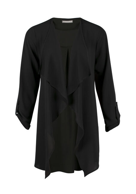 Ladies' Drape Front Open Blazer