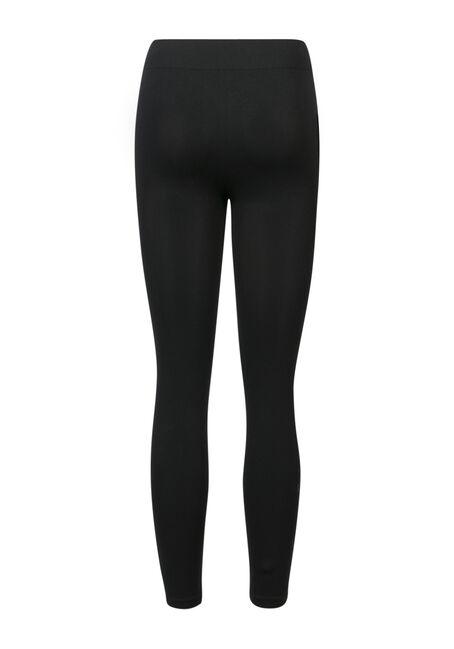 Ladies' Lace Side Leggings, BLACK, hi-res