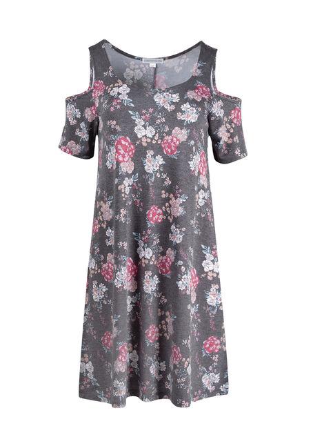 Ladies' Floral Cold Shoulder Dress