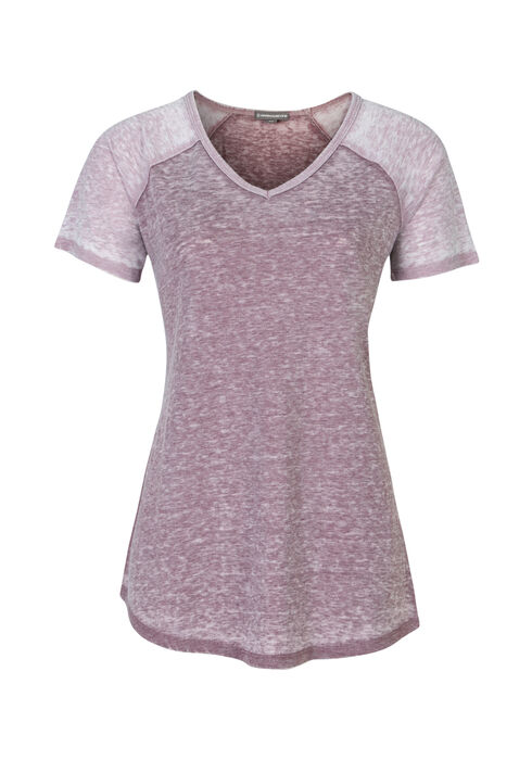 Ladies' Burnout Baseball Tee, MULBERRY/THISTLE, hi-res