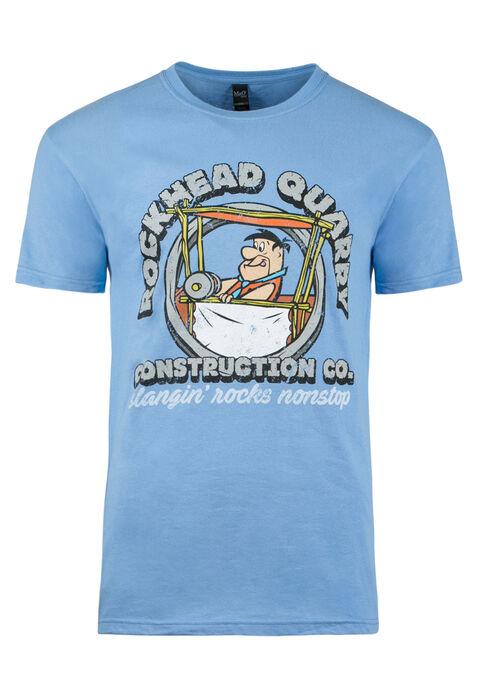 Men's Fred Flintstone Tee, BLUE, hi-res