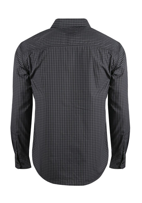 Men's Plaid Shirt, BLACK, hi-res