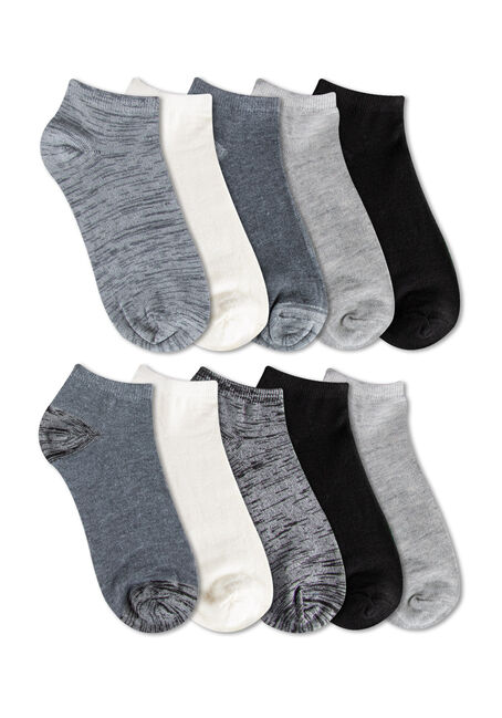 Ladies' 10 Pair Ankle Socks