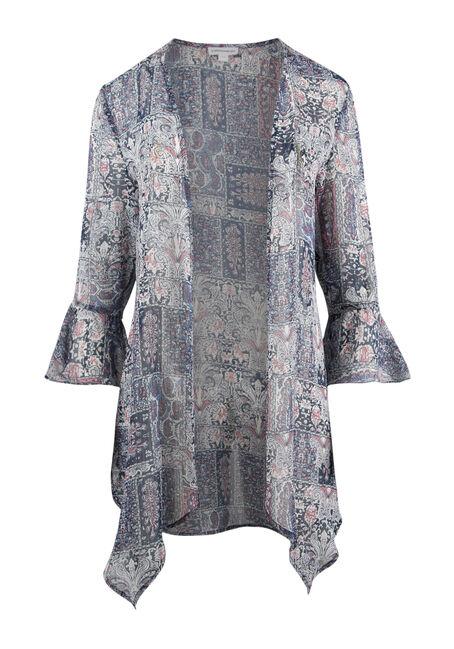 Ladies' Paisley Bell Sleeve Kimono