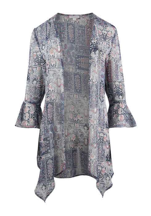 Ladies' Paisley Bell Sleeve Kimono, MULTI, hi-res
