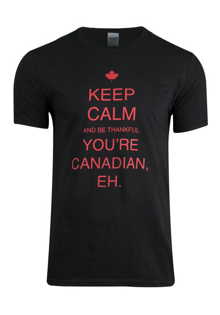 Men's Be Thankful You Are Canadian Tee, BLACK, hi-res