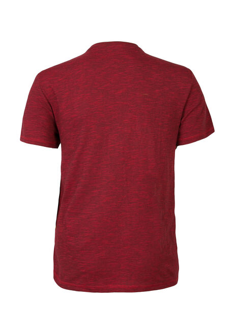 Men's Textured Crew Neck Tee, RED, hi-res