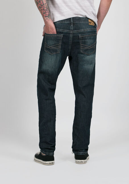Men's Tapered Fit Jeans, MEDIUM VINTAGE WASH, hi-res