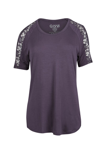 Ladies' Lace Cold Shoulder Tee