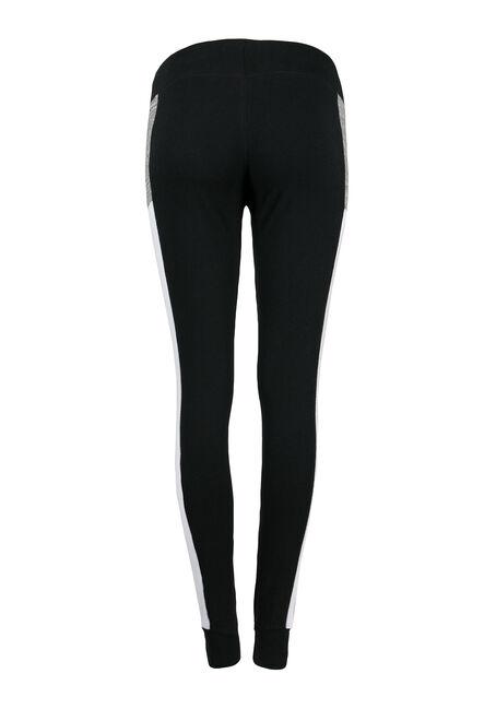 Ladies' Colour Block Jogger, BLACK, hi-res
